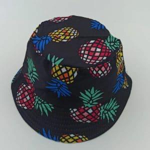 כובע טמבל אננס צבעוני על רקע שחור