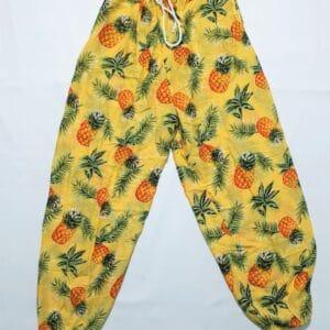מכנס שרוואל אננס רקע צהוב
