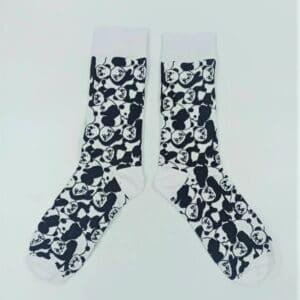 גרביים דב פנדה שחור לבן