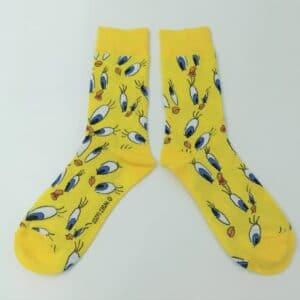 גרביים  טוויטי צהובות
