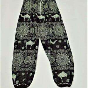 מכנסי שרוואל גמלים שחור
