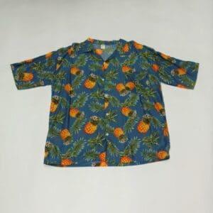 חולצת הוואי אננס רקע אפור