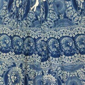 מכנסי שרוואל אינדיאני כחול טורכיז