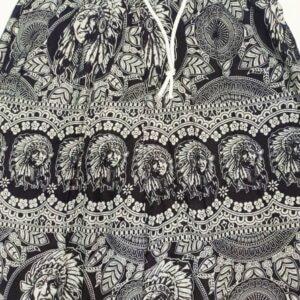 מכנסי שרוואל אינדיאני בצבע שחור