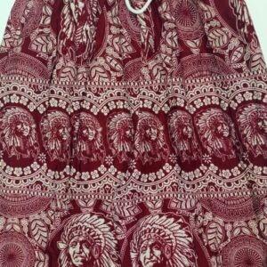 מכנסי שרוואל אינדיאני בצבע בורדו