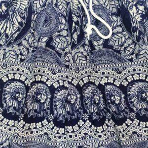 מכנסי שרוואל אינדיאני בצבע כחול כהה