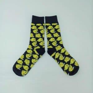 גרביים מעוצבות גבינה צהובה