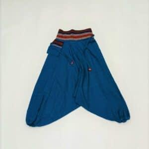 שרוואל מכנס אלאדין כחול רויאל עם רקמה