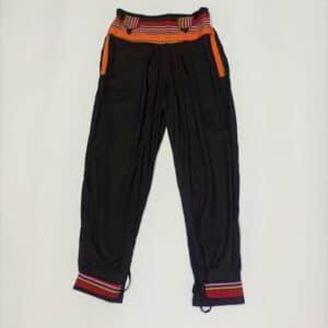 מכנסי שרוואל פאוץ' צבע שחור